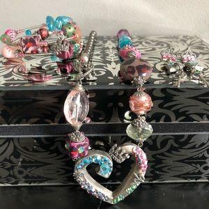 Jewelry - Crystal Mixed Media Set